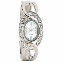 Navarre™ Ladies' Quartz Watch LADIE WCTH W/ SLVR J