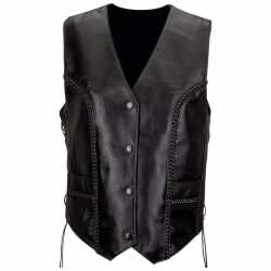 Diamond Plate™ Solid Genuine Leather Vest (Extra L
