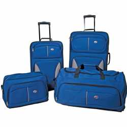 American Tourister Blue Fieldbrook 4-Piece Travel