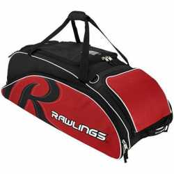 Rawlings Bat Bag Wheeled Scarlet Red 6