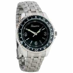 Navarre™ Men's Quartz Watch MENS SILVER LINK QUART