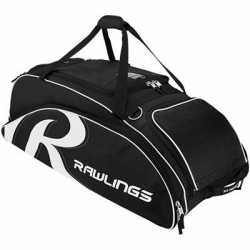 Rawlings Bat Bag Wheeled Black 6