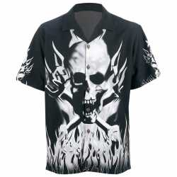 Casual Outfitters™ 6pc Button-Down Skull and Flame